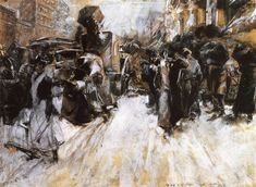 The Athenaeum - Broadway, Late in the Afternoon, After the Matinee (Everett Shinn - )