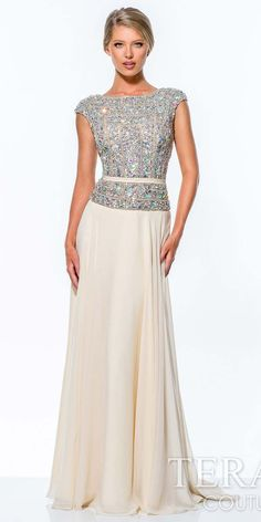 Crystal Encrusted Evening Gown by Terani Couture $570