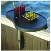 Spa Caddy - A place to hold food and beverages spaside./i need the jacuzzi first Accessoires Spa, Whirlpool Deck, Hot Tub Accessories, Hotel Boutique, Hot Tub Backyard, Jacuzzi Outdoor, Backyard Lighting, Pool Supplies, Parasol