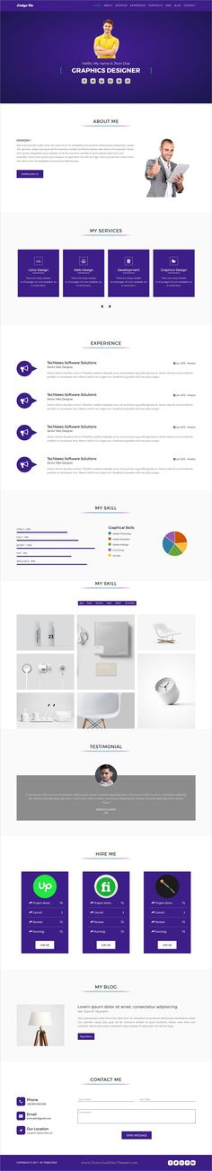 Gridsby Multipurpose Resume Html