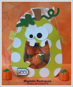Crafting with Creative M:  A Halloween Treat Bag using the Happy Pumpkin Treat Bag Cutting File from PPPR.
