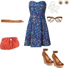 """Spring geek girl"" by anakari on Polyvore"