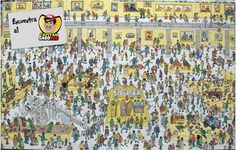 Búscame!!! Wo Ist Walter, Wheres Wally, Hidden Pictures, Spanish Class, Brain Teasers, Little People, Illustration, City Photo, Nostalgia