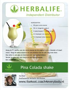 Pina Colada shake Herbalife Mais