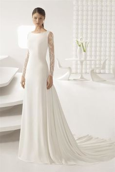 Browse beautiful Rosa Clara wedding dresses and find the perfect gown to suit your bridal style. Rosa Clara Wedding Dresses, Modest Wedding Dresses, Bridal Dresses, Wedding Dress Styles, Couture Dresses, Stunning Wedding Dresses, Elegant Dresses, Beautiful Dresses, Lace Wedding