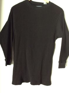 GEOGRAPHIC Boys Youth Long Sleeves Black 100% Cotton Shirt Sweater Size L(14-16)