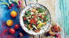 Fatuš znamená tradiční libanonský salát s pita chlebem a spoustou zeleniny a bylinek. Avocado Toast, Guacamole, Quinoa, Tacos, Mexican, Breakfast, Ethnic Recipes, Morning Coffee, Mexicans