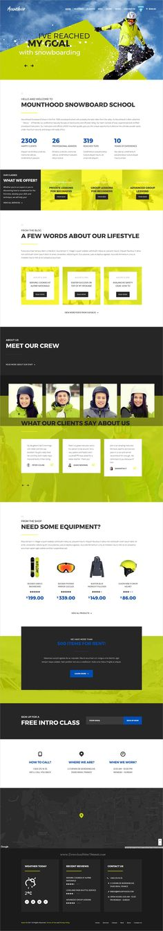 Mounthood is clean and modern design 3in1 responsive #HTML5 template for #ski / #snowboard schools or resorts website download now➩ https://themeforest.net/item/mounthood-ski-and-snowboarding-html-template/19887513?ref=Datasata
