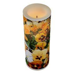 Orange Pansies Flameless Candle