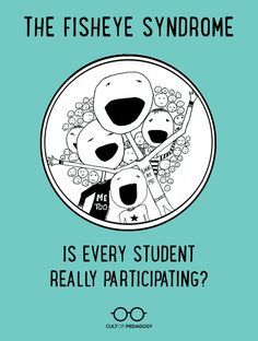 """The Fisheye Syndrome: Is Every Student Really Participating? - To those afflicted with Fisheye, some students appear """"larger"""" than others, grabbing more of our attention and making the others fade into the periphery."""