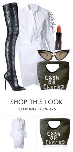 """""""Untitled #4274"""" by stylistbyair ❤ liked on Polyvore featuring Christian Louboutin and Thierry Mugler"""