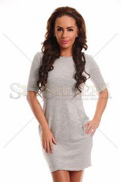 Fofy Loved Pleasure Grey Dress