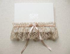 Antiquity lace silk garter by florriemitton on Etsy