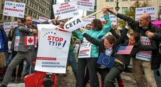 Protest against TTIP and CETA in Berlin