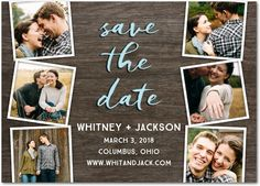 Generous Love - Signature White Photo Save the Date Cards in Volcano or Black | Magnolia Press