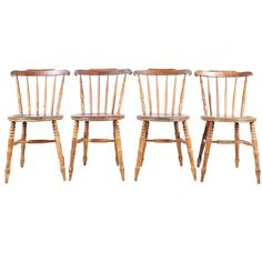 1940s English Country Dining Chairs, Set of 4  Vintique.com Nashville, TN