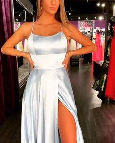 modest blue split prom party dresses with criss cross back, fashion formal evening gowns, gowns floor length sequin replica bride wedding dress gown prom dress formal dresses dress up elegant classy elegance Long Sleeve Gold Prom Dresses, Royal Blue Prom Dresses, Pretty Prom Dresses, Prom Party Dresses, Ball Dresses, Homecoming Dresses, Wedding Dresses, Elegant Dresses, Sexy Dresses, Dress Prom