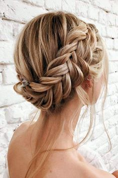 Graceful Wedding Updos With Braids ❤ See more: http://www.weddingforward.com/wedding-updos-with-braids/ #weddings