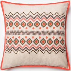 Red/Natural 22x22 Accent Pillow