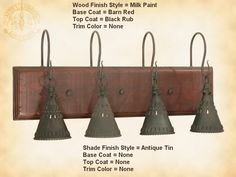1000 images about lights on pinterest pulley lamps and pendant lights - Primitive bathroom vanity lights ...