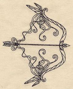 Bow and Arrow design (UT4915) from UrbanThreads.com