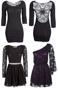grunge inspired clothing | New style gothic grunge dresses
