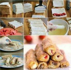 French Toast Rollups.