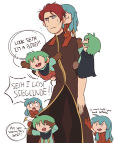 Seth is literally the father in this game and it's great.