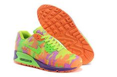 online store 4f7ab f1142 Womens Nike Air Max 90 HYP KPU TPU Camo Green Orange Purple Trainers the  design is