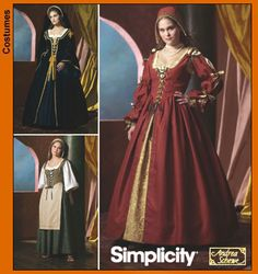 Simplicity 4488 Misses Renaissance Costumes - Recommended by PatternReview.com