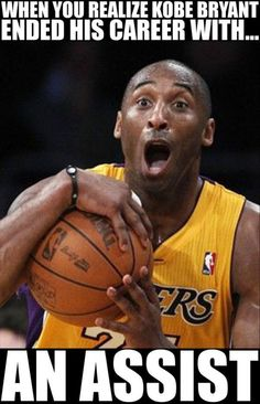 Los Angeles Lakers superstar Kobe Bryant is in a fierce legal battle with his mother over the rights to some invaluable basketball memorabilia she plans to sell. Kobe Memes, Kobe Bryant Memes, Funny Nba Memes, Funniest Memes, Funny Nfl, Funny Humor, Funny Pics, Funny Minion, Funny Stuff