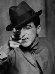 111111111111111111 Berenice Abbott - Jean Cocteau with Gun, Paris, 1926. S)
