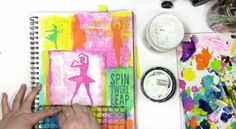How to use masks and stencils from StencilGirl in an art journal page - Carolyn Dube