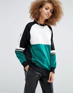 ASOS   ASOS Sweatshirt With Contrast Panelling