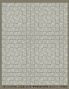 Printable Classic French Floor Tiles for Dollhouse Floors