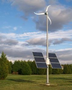 Small alternative energy hybrid systems for homes.