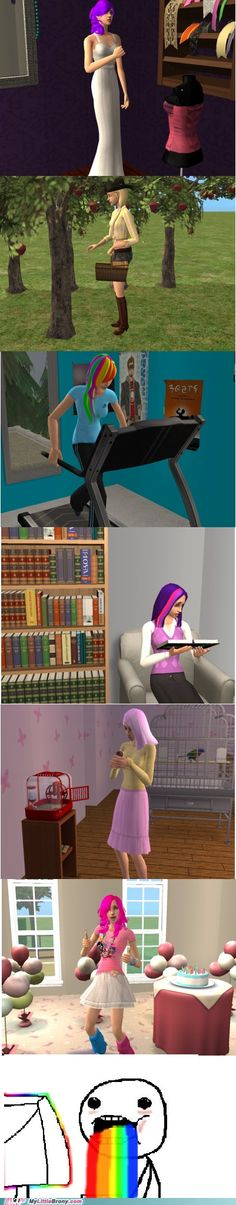Sims 2 characters as the mane 6! A combination of one of my favorite games with one of my tv favorite shows! : )