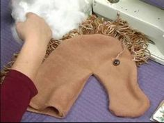 How to Make a Hobby Horse For Kids : How to Make Yarn Mane for Hobby Horse - YouTube