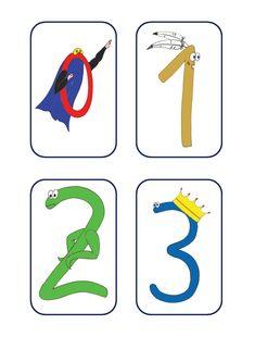 Un jeu de cartes pour aider les enfants à mémoriser les noms des chiffres. Ms, Montessori, Halloween, Board, Outfits, Names, Number Games, Working Memory, English Games