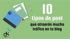 10 tipos de post muy útiles si quieres conseguir mucho tráfico para tu blog Community Manager, Blog Tips, Bar Chart, Management, Letters, Marketing, Blogging, Sign, Google