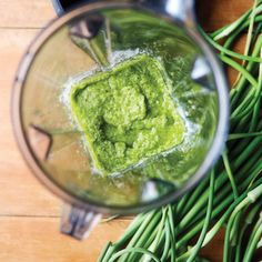 I picked up my first CSA box today and it contained Garlic Scapes. Never heard of them before but here's a recipe for Garlic Scape Pesto - can't wait to try the pesto.