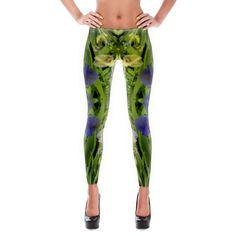 Purple & Green Leggings