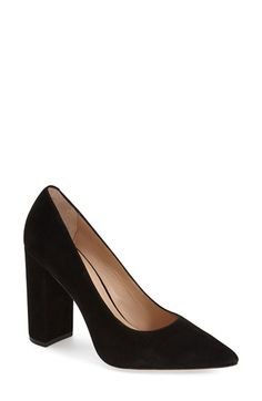 Free shipping and returns on Pour la Victoire 'Celina' Pointy Toe Pump (Women) at Nordstrom.com. A blocky half-moon heel updates the graceful profile of a pointy-toe pump offered in lush kidskin suede.
