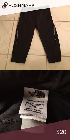 North Face running capris Great running capris!  North Face. Like new - worn 2 times! Run a little smaller than a medium. North Face Pants Track Pants & Joggers