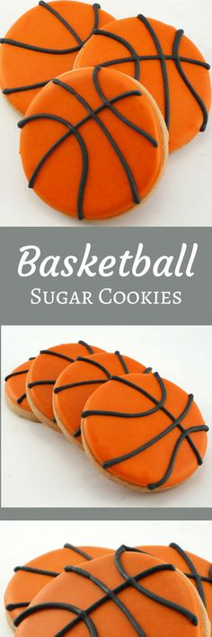 Decorated Cookies - Basketballs - 1 dozen #affiliate