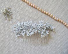 Nupcial peine peluca novia de Art Deco novia por SarahWalshBridal