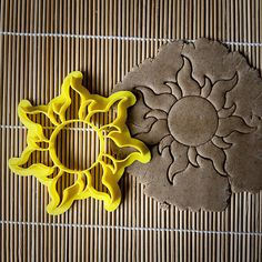 Rapunzel Sun Cookie Cutter This cookie cutter will help you to make a unique gift. Make delicious cookies Our Rapunzel Sun Cookie Cutter with stamp was designed to simplify cookie decoration process. By one movement cookie cutter cut the dough and put a pattern on it. This cookie