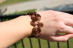 Copper bracelet - wire wrapped jewelry handmade copper via Etsy