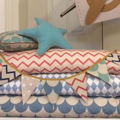 Mantas para camas individuais, com os padrões mais lindos!  #bicakids #nobodinoz #bicakidsnoentretanto