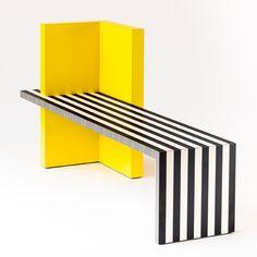 Neo Laminati Bench No. 84 | Kelly Behun Studio Furniture Logo, Furniture Showroom, Street Furniture, Retro Furniture, Refurbished Furniture, Ikea Furniture, Unique Furniture, Rustic Furniture, Furniture Makeover